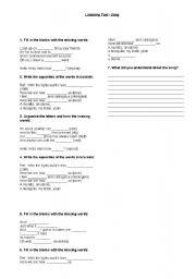 English Worksheet: Smels like spirit - Nirvana - listening test