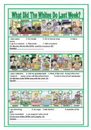 English Worksheet: Simple Past Tense: Writing and Gapfill (3 pages with answer key)