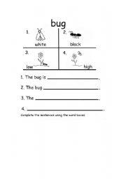 English worksheet: pre- writing