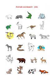 English Worksheets: Animals wordsheet