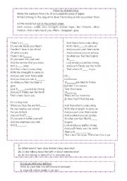 English Worksheet: Fill in the blanks useing Hero by Mariah Carey.
