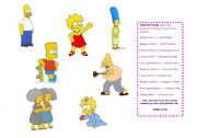 English Worksheet: USING APOSTROPHE WITH THE FAMILY SIMPSONS