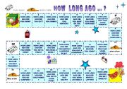 English Worksheets: Board game to practise  How long  ago did you .. ?I ....  ago