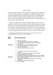 English Worksheets: Birth Order theory
