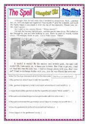 English Worksheets: The Spell (Chapters 6 and 7)