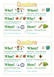 English Worksheets: Who What When Where Why chart