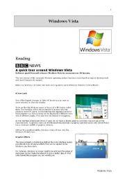 English Worksheets: Windows Vista