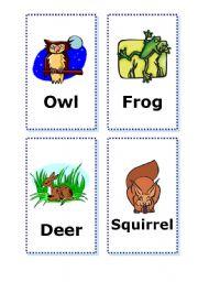English Worksheets: Animal Cards - part 3