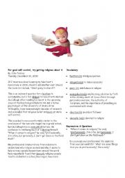 English Worksheets: For good self-control, try getting religious about it