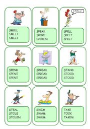 Irregular Verbs Card Game / Part 10