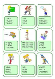 Irregular Verbs Card Game / Part 11