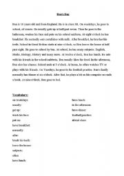 English Worksheets: Ben´s Day