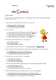 Movie-conversation class based on the Simpsons episode
