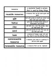 English Worksheet: soil defintions matching game