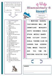 English Worksheets: Fun Sheet Elementary 6