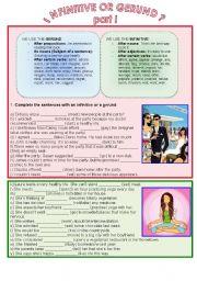 English Worksheet: Infinitive or gerund?