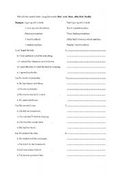 English Worksheets: first , next , then , after that , finally