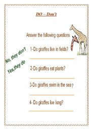 English Worksheets: do -don�t