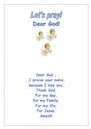 English Worksheets: Pray:dea rGod