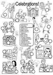 celebrations esl worksheet by im lety. Black Bedroom Furniture Sets. Home Design Ideas