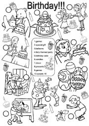 English Worksheets: Birthday