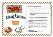 English Worksheets: Dining Customs