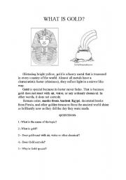 English Worksheets: GOLD