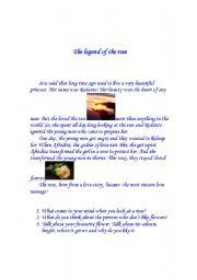 English Worksheets: Legend of the rose