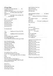 English Worksheet: future tense - song