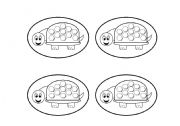 English Worksheets: Turtle Cards Blackline (Add your own text.) Use them with my turtle gameboard.