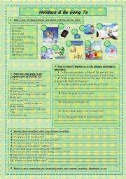 English Worksheet: Holidays & be going to