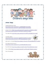 Children´s Songs Video Links