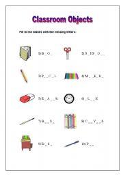 english worksheets classroom objects worksheet. Black Bedroom Furniture Sets. Home Design Ideas