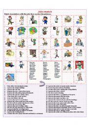 English Worksheet: Jobs match