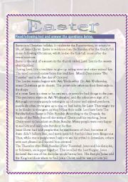 English Worksheets: Easters (7 pages) with answers