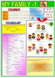 English Worksheets: My Family