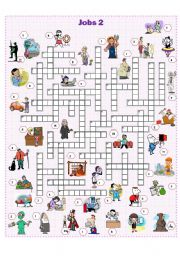 English Worksheet: Jobs crossword 2
