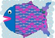 English Worksheets: Fish Gameboard - 52 spaces