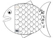 English Worksheets: Fish Gameboard - Blackline Version