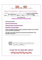 English Worksheets: My Contract