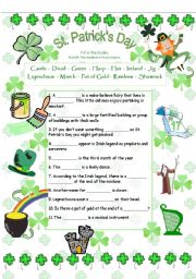 English Worksheets: St.Patrick´s Day Vocabulary