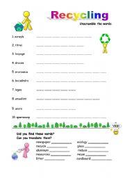 Recycling Worksheets For Kids - Vintagegrn