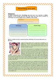 English Worksheets: THE MAGICAL WORLD OF AVERTISING (2/2: Reading comprehension))