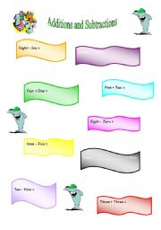 English Worksheets: Additions and Subtractions