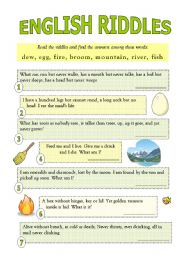 english riddles with answers read the riddles and find the answers ...