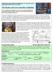 English Worksheets: Voyage to the other side of the world, (and back?)