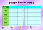 English Worksheet: Happy Easter Game