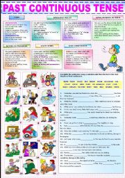 English Worksheets: THE PAST CONTINUOUS TENSE