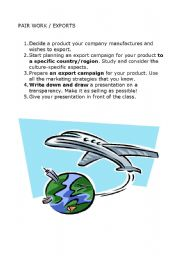 English Worksheets: Export campaign