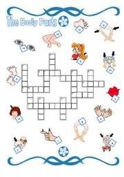 English Worksheets: Body crosswords